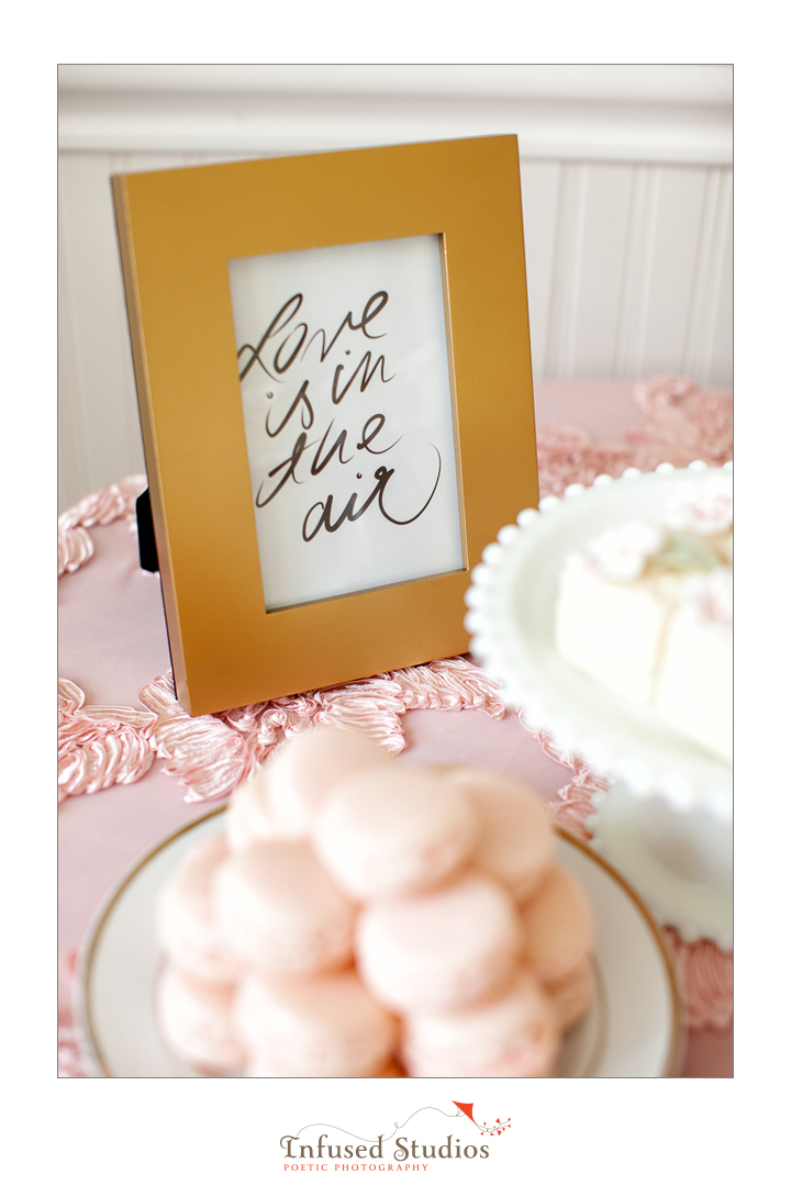 Paris inspired styled wedding shoot by Edmonton wedding photographers :: dessert table