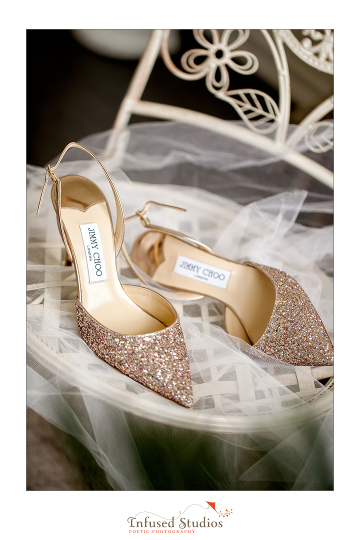 Paris inspired styled wedding shoot by Edmonton wedding photographers :: Jimmy Choo shoes