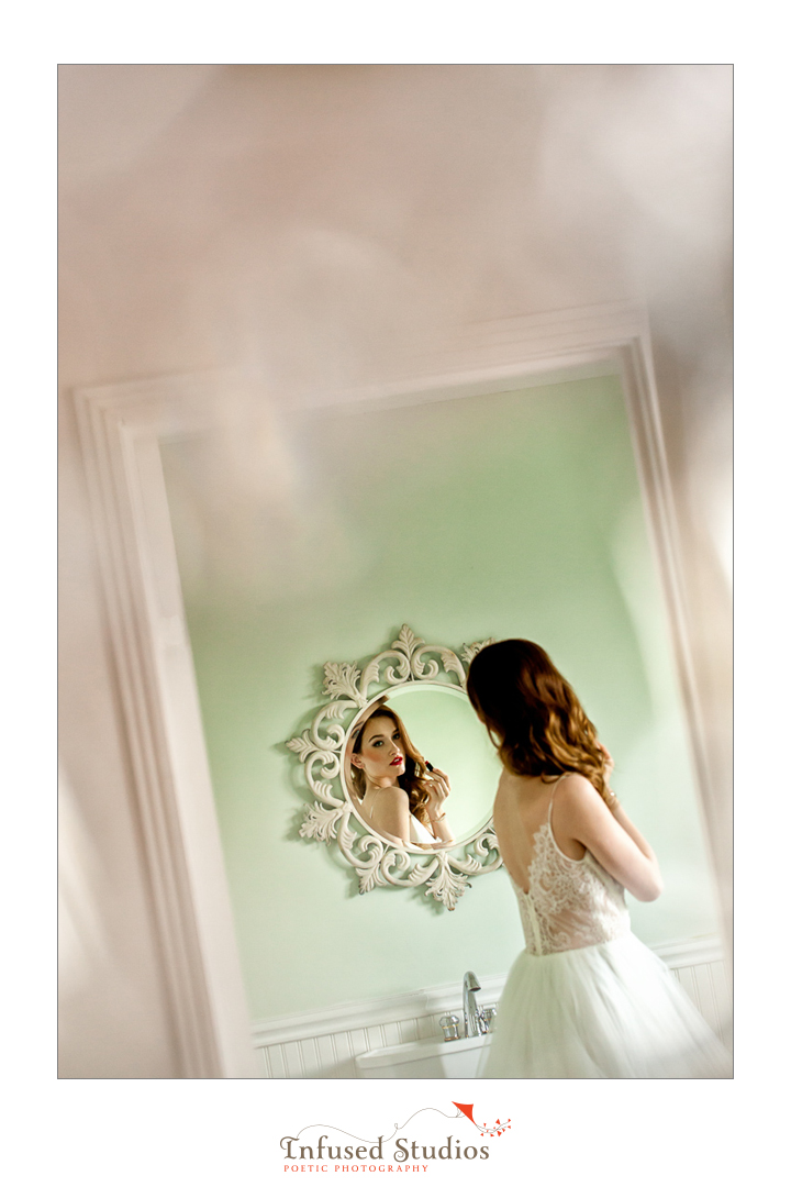 Paris inspired styled wedding shoot by Edmonton wedding photographers :: creative bridal portrait