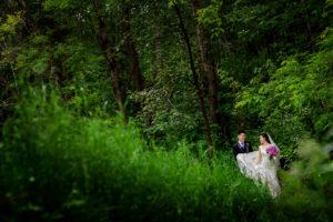 Creative Edmonton wedding photography :: Joanna + Charles outdoor woods