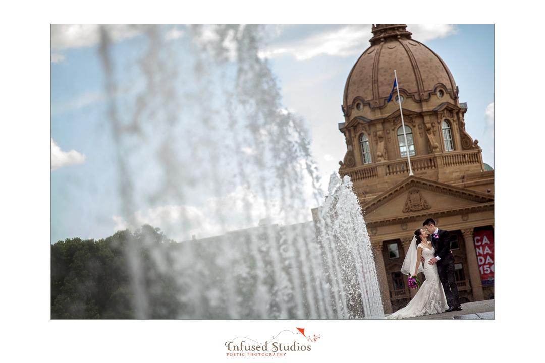 Artistic Edmonton wedding photography :: Joanna + Charles at the Alberta Legislature